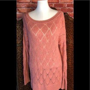 Loft peachy feminine detailed sweater